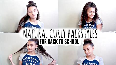 4 easy school hairstyles natural curly hair youtube