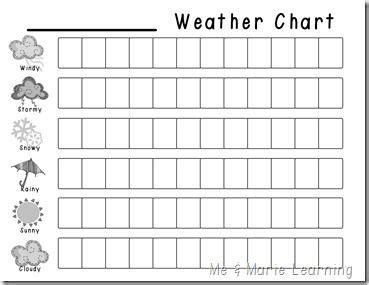 calendar folders pre preschool weather preschool weather chart