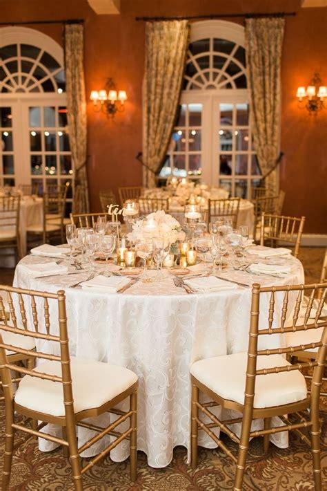 gold white reception table pretty details angela newton