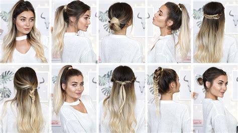 10 easy heatless school hairstyles youtube
