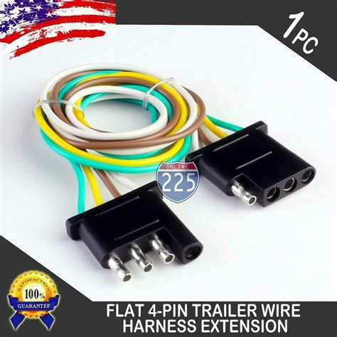 1ft trailer light wiring harness extension 4 pin