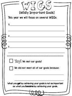 wildly important goals tracking sheet 7 habits leadership