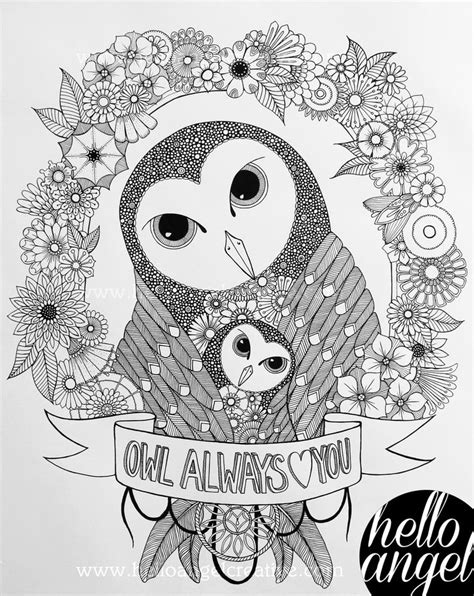 17 images owl coloring pages adults