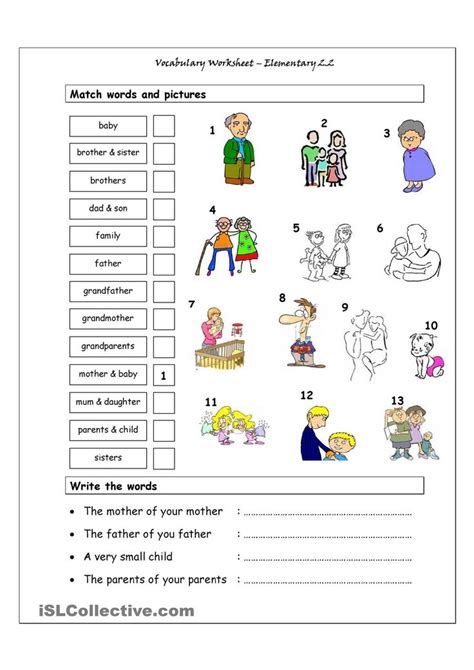 Vocabulary Worksheets For Elementary Students Pdf.html