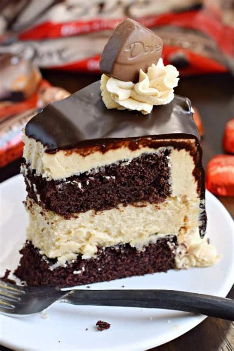 chocolate peanut butter cheesecake cake dove chocolate shugary