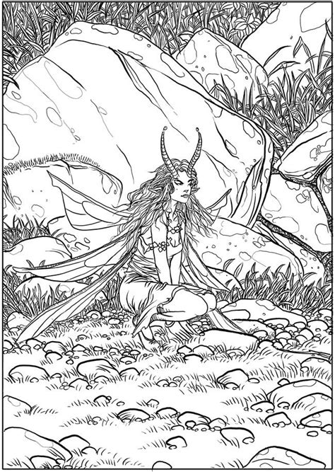 710 images coloring pages fantasy pinterest