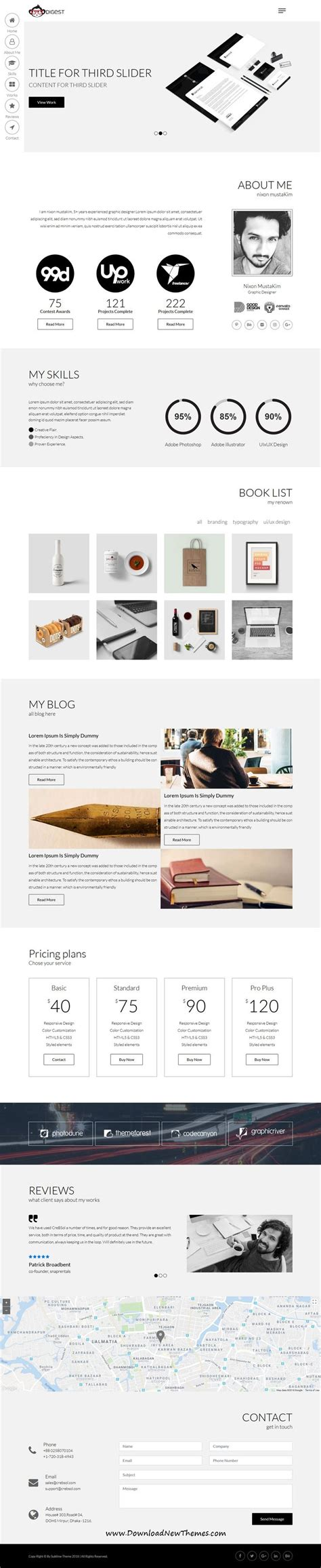 digest personal resume template web layout design templates