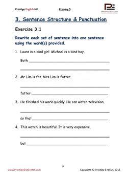 english exercise book primary 5 sample free freebie