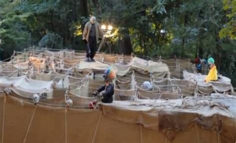 video tour stewart family backyard halloween maze ridgewood