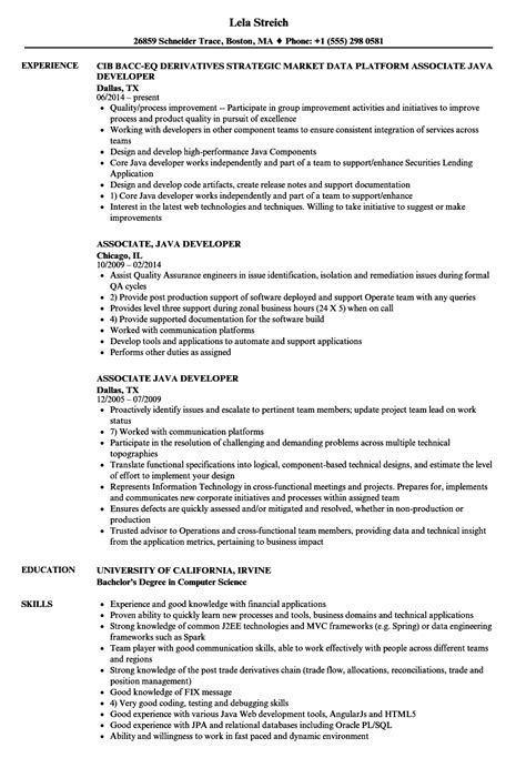 2 years experience resume java developer developer images
