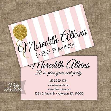 gold glitter pink printable business cards niftyprintables perfect