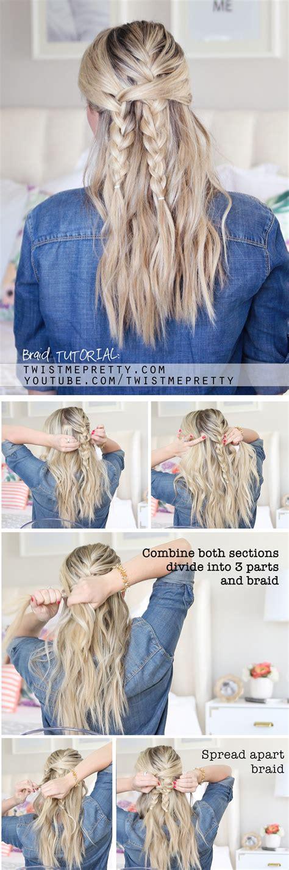 bohemian braid tutorial easy school hairstyle