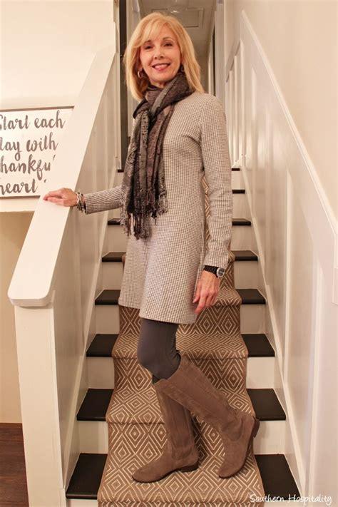 fashion 50 sweater dresses boots stylish outfits women