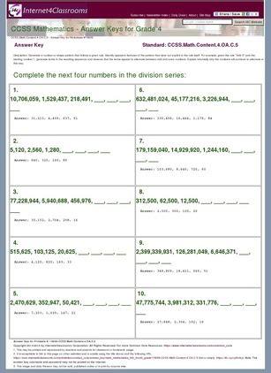 answer key download worksheet 15659 ccssthntent 4 oa