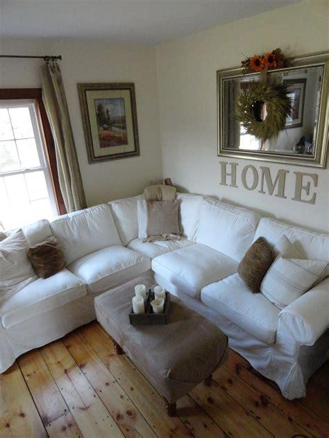 white ikea ektorp sectional sofa sew ottoman cover