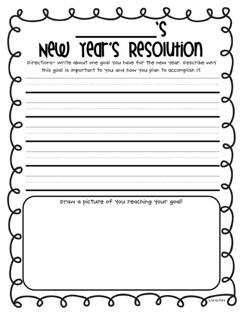 New Year S Resolution Worksheet 2nd Grade.html