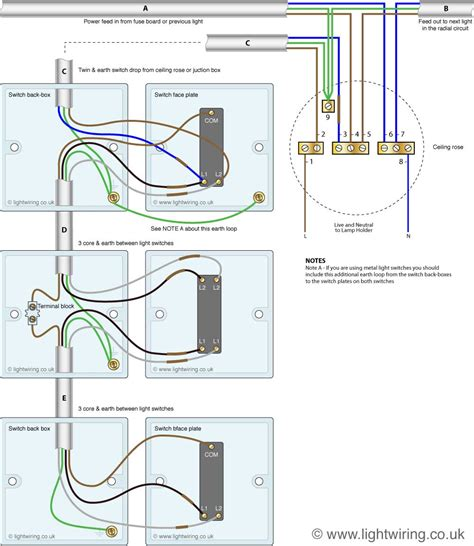 intermediate switch wiring light wiring