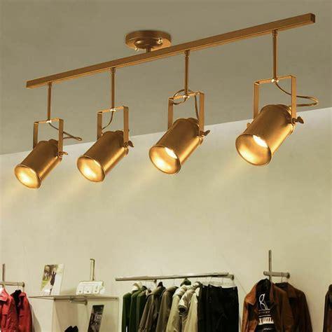 vintage industrial ceiling gold finish track lighting