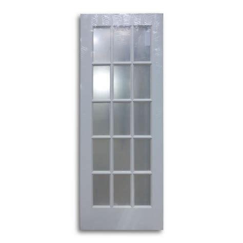interior french door primed white 15 lite 30