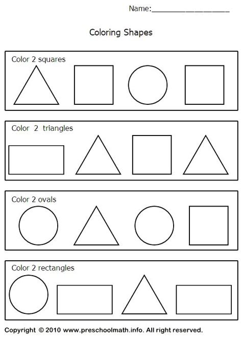 triangle worksheets preschool shapes worksheets preschool kindergarten grade