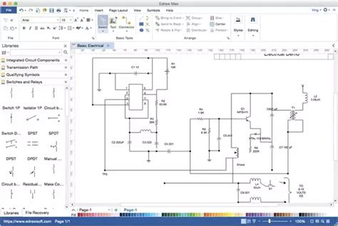 free software drawing electrical circuits windows 8 1