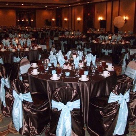 chocolate brown blue wedding weddings style decor planning