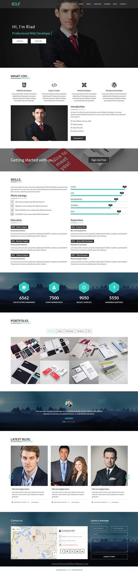 clean elegant design bootstrap html template page portfolio