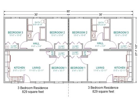 3 bedroom duplex floor plans 2 bedroom duplex