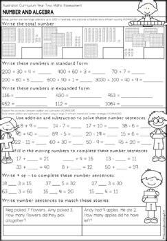 australian curriculum year 2 maths test lauren fairclough