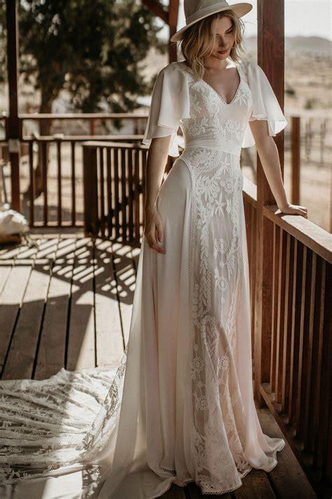 hayley romantic bohemian wedding dress dreamers lovers