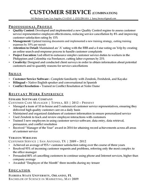 30 customer service resume exles ᐅ templatelab