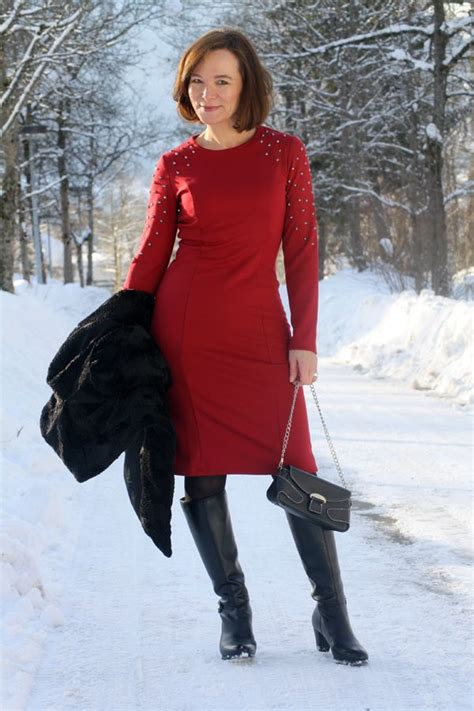thom thomas rath qvc collection red studded dress