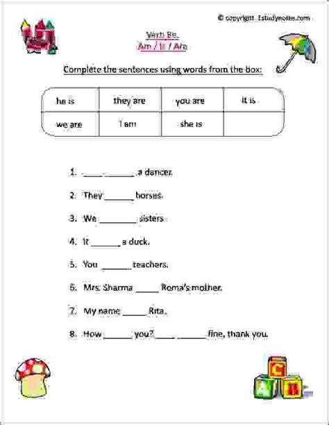 english worksheets class 1 kids practice verbs esl