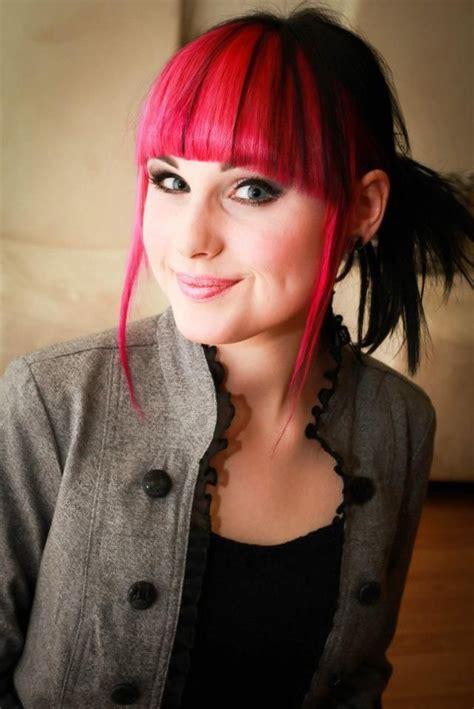 54 pink black hair