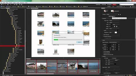 create watermarked contact sheets adobe bridge cs5 youtube