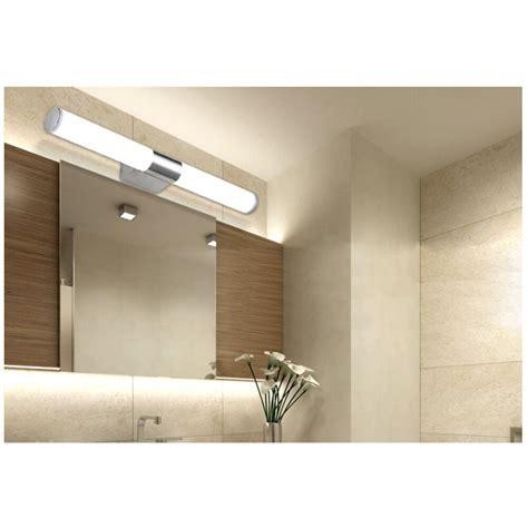 fuloon modern stainless steel bathroom led light mirror