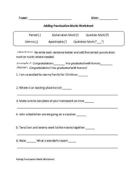 15 images punctuation worksheets grade 5 6th grade