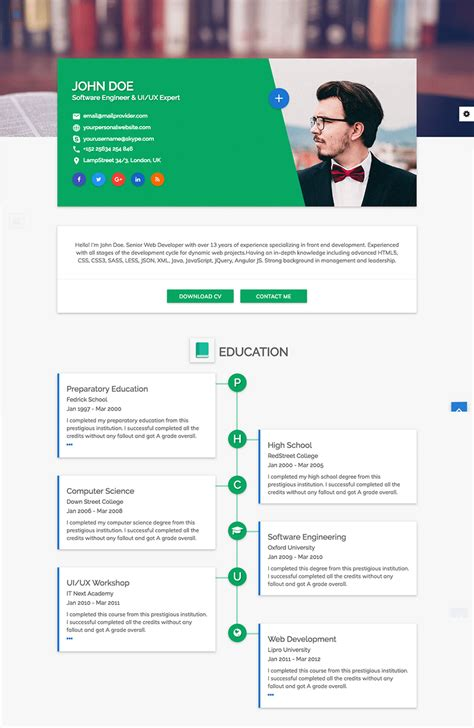 15 html resume templates awesome personal sites codeholder
