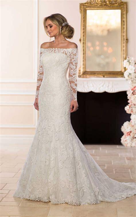 shoulder lace wedding dress stella york wedding gowns