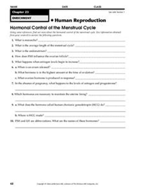 human reproduction worksheet 9th higher ed lesson planet