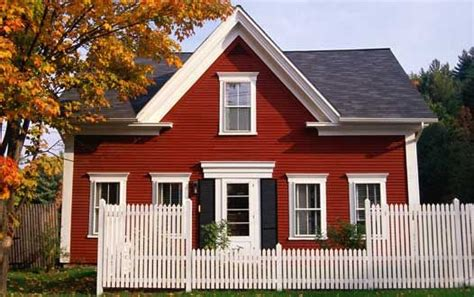 red house white trim black shutters housies pinterest
