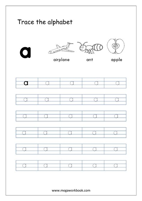 alphabet tracing small letters alphabet tracing worksheets alphabet