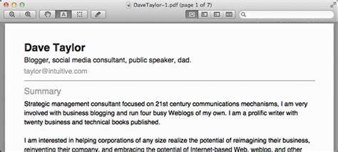 linkedin produce resume dave taylor