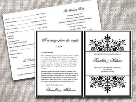 fold regency wedding program template microsoft word ornate
