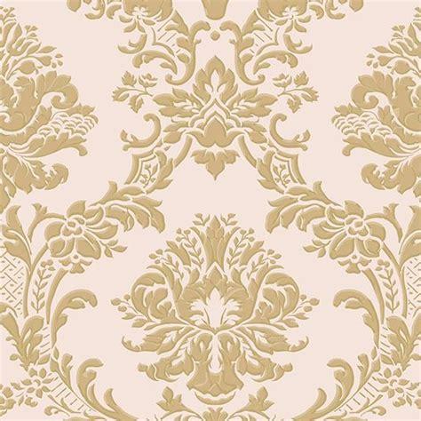 classic damask metallic gold pink im36406 victorian wallpaper