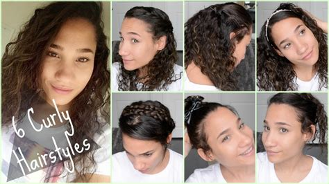 6 cute curly hairstyles school 2015 quick easy