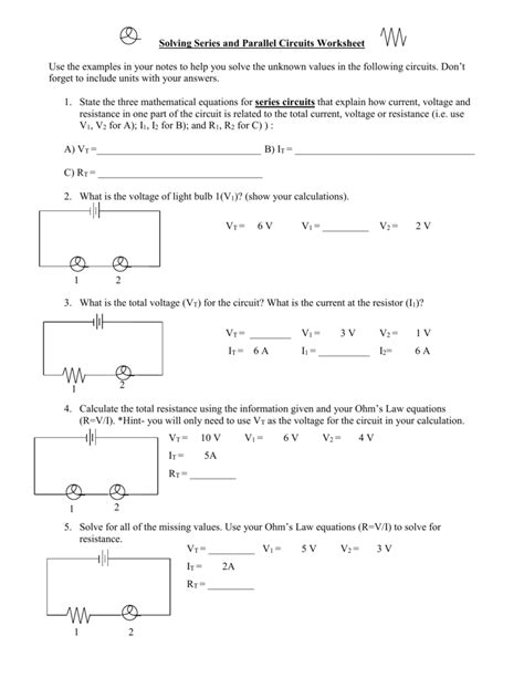Parallel And Series Circuits Worksheet.html