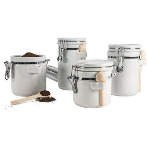 4 piece ceramic canister set kitchen counter storage