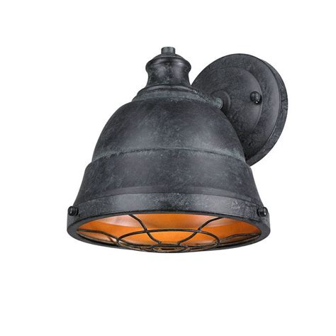 weathered industrial caged sconce wall sconces wall sconce