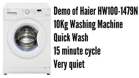 15 minute 5kg quick wash 20 degrees haier